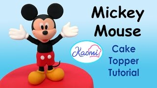 How to make Mickey Mouse (Cake Topper) / Cómo hacer a Mickey Mouse para decorar tortas