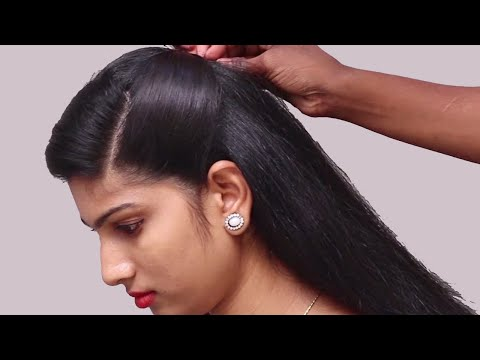 trendy-hairstyles-for-wedding-party-function-/-easy-hairstyles-/-hairstyle-with-trick