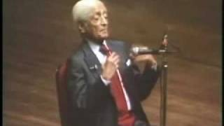 Jiddu Krishnamurti: At The End Of Sorrow Is Passion