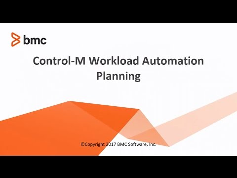 Control-M Workload Automation Planning