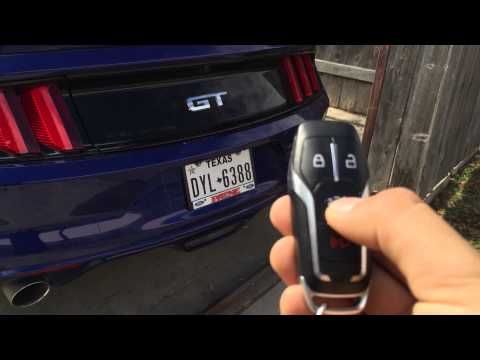 2015 Mustang Keyless Features