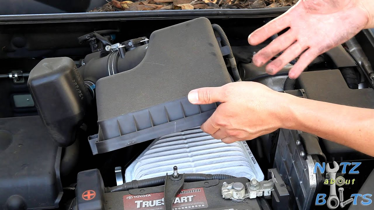 2006-2008 Toyota Rav4 Engine air filter replacement - YouTube