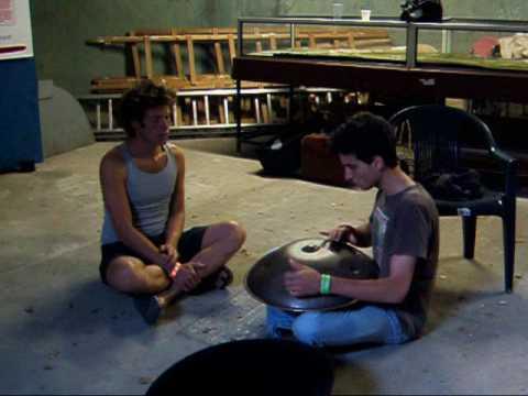 Sam Lee with Francesco on Hang Drum