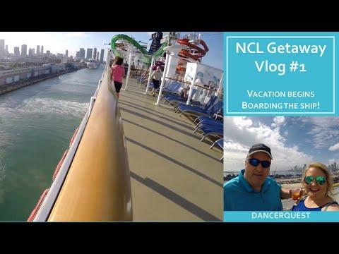 Norwegian Getaway Cruise Vlog 1 - Jan 21-28, 2018 Boarding & Sailaway