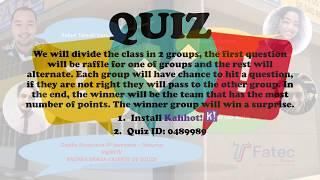 Quiz Inglês - Rafael, Jana, Luis, Kleber