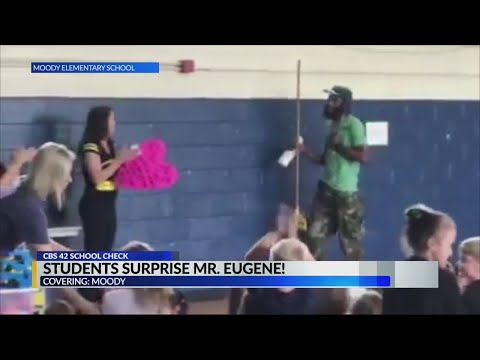 Andi and Kenny  - DDG: School Janitor Surprised By Kids On Custodial Workers' Recognition Day