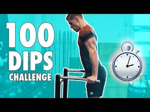 100 DIPS CHALLENGE | Benjamin Mann Nakel