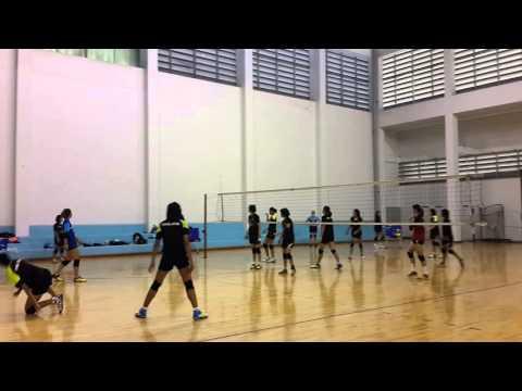วอลเลย์บอลหญิงทีมชาติไทยซ้อม(1) 10-2-2016