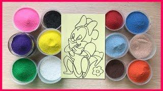 Đồ chơi trẻ em tô màu tranh cát hình chuột MICKEY dễ thương - Colored Sand Painting (Chim Xinh)