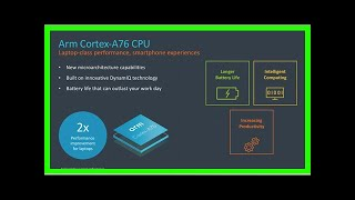 Breaking News   ARM announces new Cortex CPU that will bring true laptop-class performance to Snapd