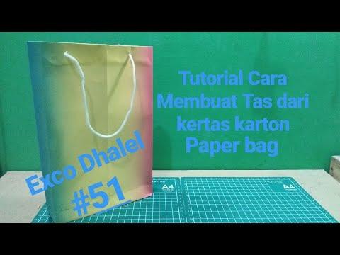 Cara Membuat Tas Dari Kertas Karton paper bag - Tutorial DIY