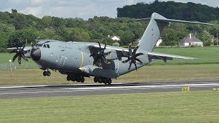 2 RAF A400Ms Landing at Prestwick Airport