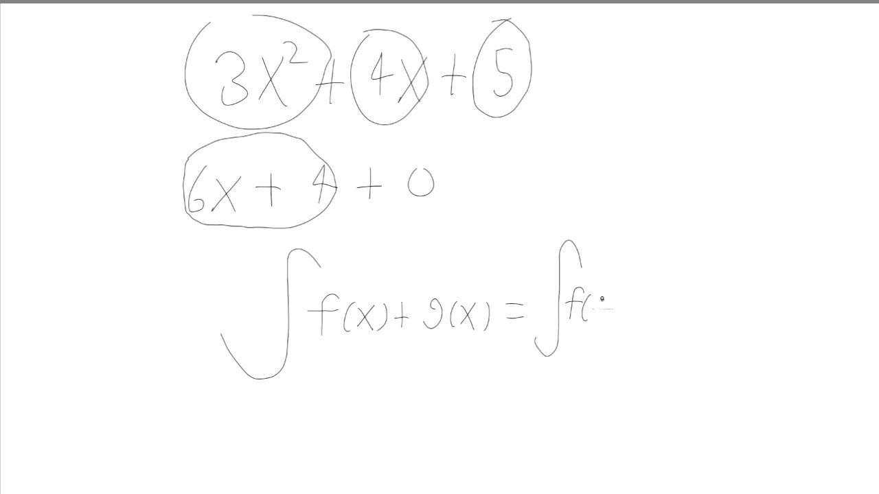 HTX B: Integralregning 2: Tre vigtige regneregler.