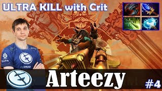 Arteezy - Gyrocopter Safelane | ULTRA KILL with Crit (Treant) | Dota 2 Pro MMR Gameplay #4