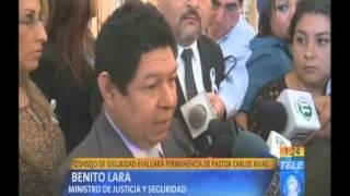 Consejo de Seguridad evaluará permanencia de Pastor Carlos Rivas