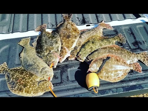 Galveston, Texas Flounder Fishing