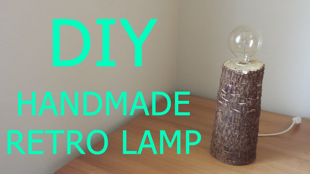 DIY - Handmade Wooden Retro Table Lamp | Bedside Lamp - YouTube