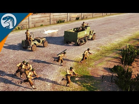 AMERICAN ARMY RANGERS TAKE TOWN, DESTROY SS PANZER DIVISION | Steel Division: Normandy 44 Gameplay