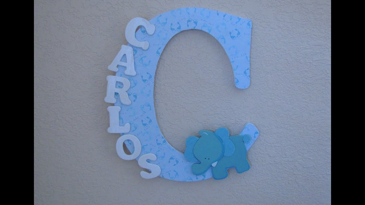 Diy How To Decorate Wooden Letter Nursery Decor