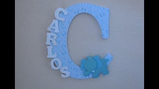 DIY | HOW TO Decorate Wooden Letter - Nursery Decor