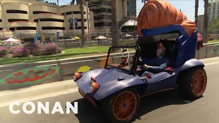 Conan's Superhero Vehicle Hits The Streets Of San Diego  - CONAN on TBS