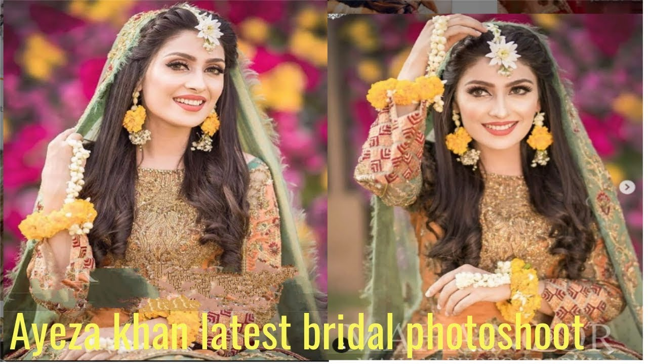Beauty Queen Ayeza Khan Bridal Photoshoot For Mayun And Mehndi