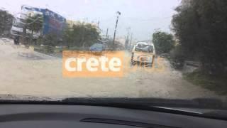 Φοινικιά βροχή ΚΙΝΔΥΝΟΣ - CretePlus.gr ΔΙΑΔΡΟΜΗ (3-12-2013)