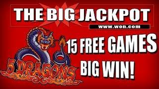 🔥 15 FREE GAME$ 🔥 5 DRAGONS BONUS ROUND JACKPOT!