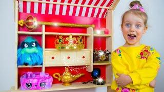 Cuento infantil sobre tienda de juguetes mágicos - Alex y Gaby