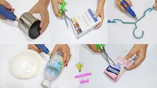 6 Creative Way to Recycle Waste Materials! How to recycle| best reuse idea