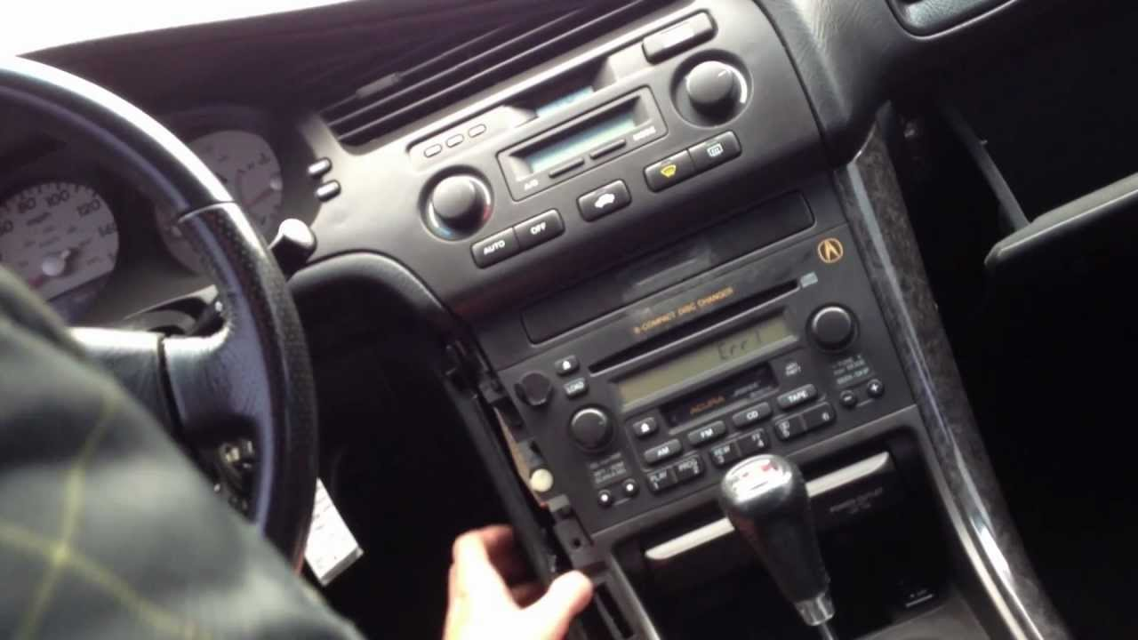 Acura Mdx 2001 Navigation Radio Wiring Diagram How To Put In Radio Code For Acura Tl Youtube