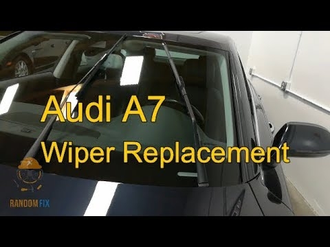 ▶️How Replace Audi A7 Wipers 2010 2011 2012 2013 2014 2015 2016 2017 ▶️wWiper Service Position