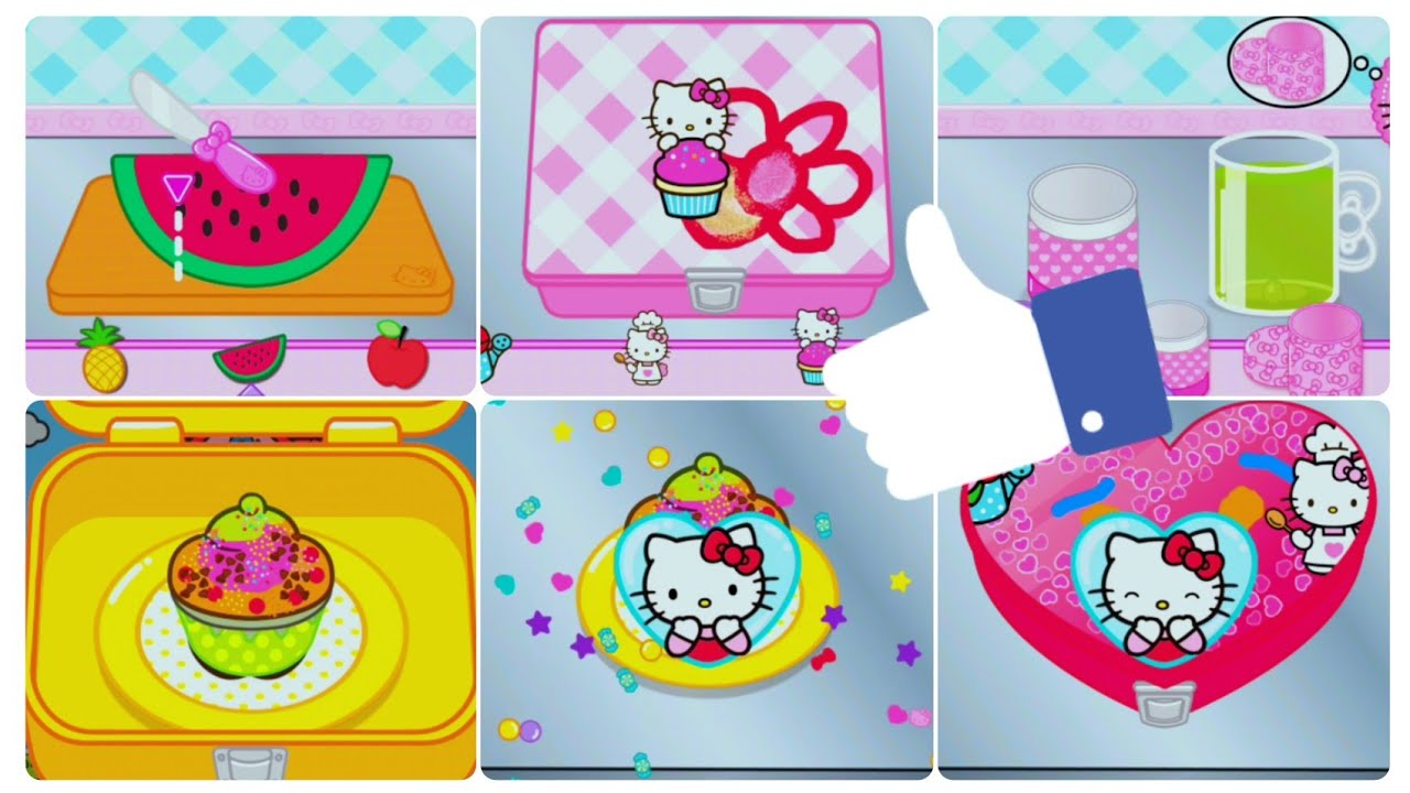 Permainan Hello Kitty Kartun Game Anak Perempuan Masak Masakan Hello Kitty Youtube