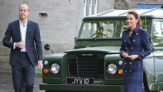 video: Cambridges drive Prince Philip's beloved Land Rover to cinema date