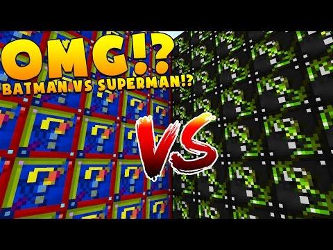 Minecraft 1V1V1V1 BATMAN VS SUPERMAN LUCKY BLOCK WALLS! | (Minecraft Modded Minigame)