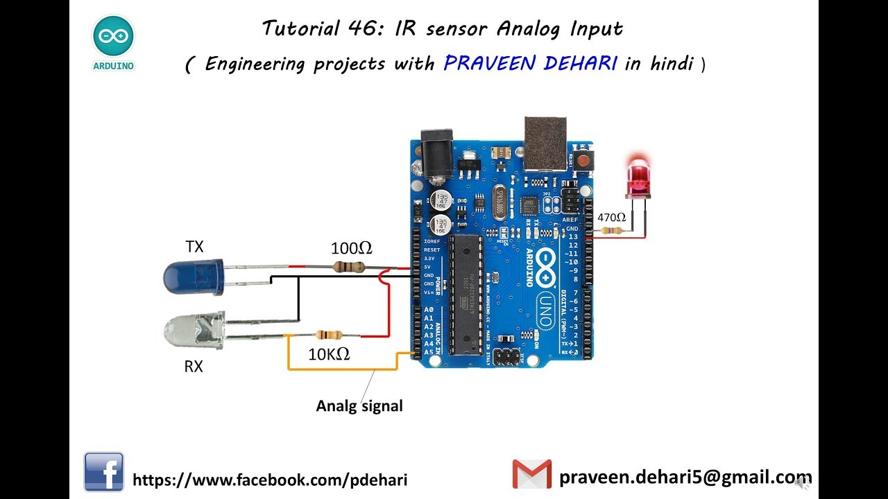 Arduino Ir Sensor Analog Input Tutorial 46 Youtube Receiver Circuit Diagram