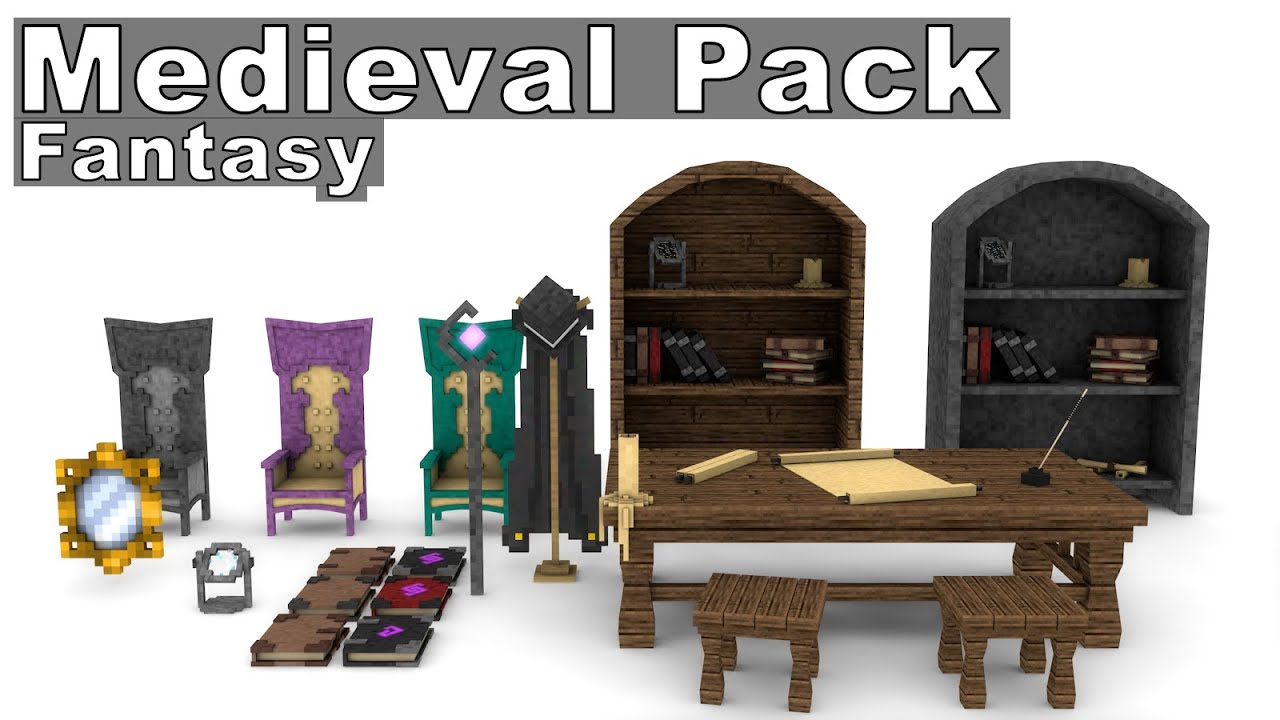 Minecraft Kitchen Mod 1.8 Minecraft Medieval Furniture Model Pack Fantasy Cinema