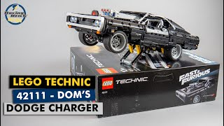 LEGO Technic 42111 Fast & Furious Dom's Dodge Charger detailed building review