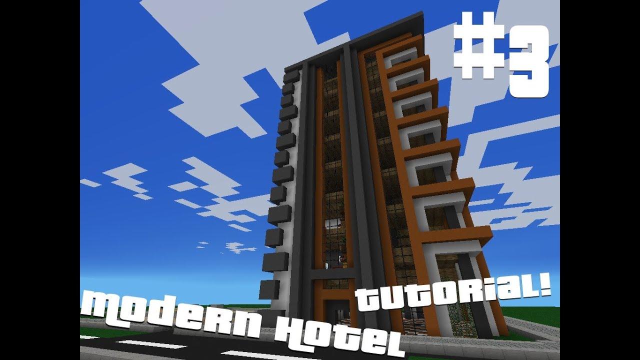 Minecraft Pocket Edition Modern Hotel Tutorial Part 3