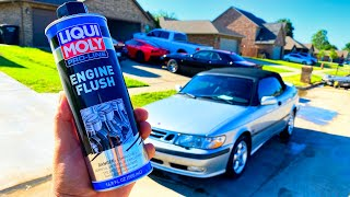 Can Liqui Moly Engine Flush fix my Cheap Saab 9-3 Turbo Engine? Low oil Pressure + Tapping!!!