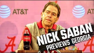 Nick Saban discusses SEC title game, QB transfer chatter