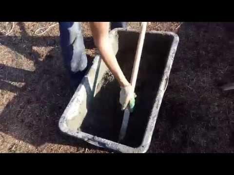Как замешать бетон вручную пропорции в ведрах