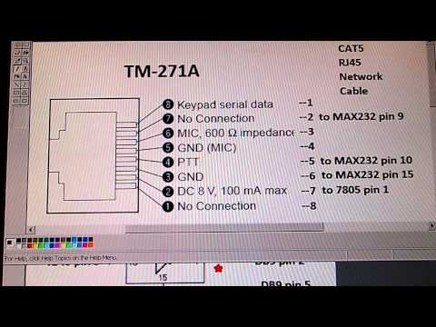 Kenwood TM-271A Programming Cable with MAX232 chip