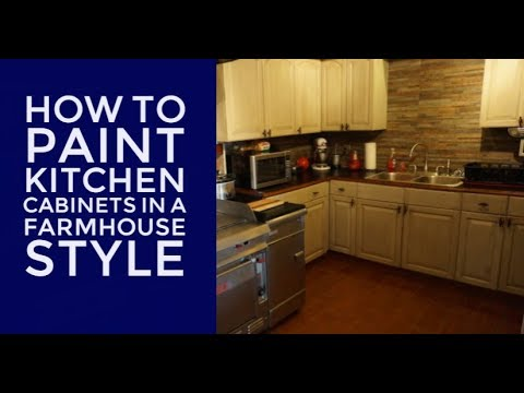 How To Paint Kitchen Cabinets And Furniture | DIY Farmhouse Look