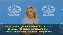 Russian MFA spox Maria Zakharova was disturbed by the question about Chechen gays