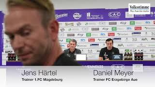 FCM: Pressekonferenz nach Remis bei Erzgebirge Aue
