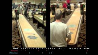 Eddie Brayman Vs. David Williams Jr. North American Shuffleboard Championships 2012