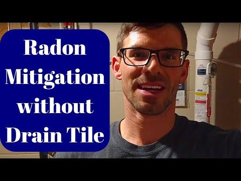 Radon Mitigation Without Drain Tile
