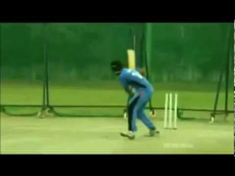 Blindfold Cricket Batting & Throw by Virat Kohli
