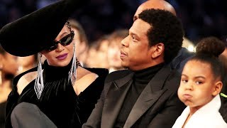 blue ivy tells beyonce jay z to stop clapping during camilas grammys speech